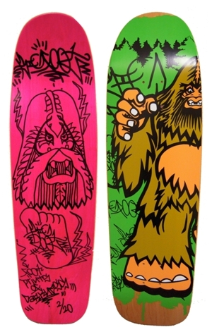 New item in store:  custom art skateboard deck