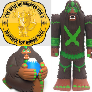 THE FOREST WARLORD and FUJISAN nominated in DESIGNER TOY AWARDS